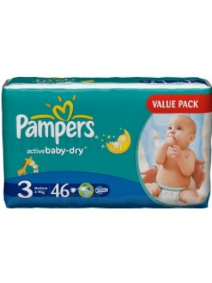 Pampers Medium Size 3 (46 Diapers)