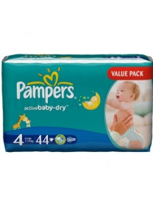 Pampers Large Size 4 (44 Diapers)
