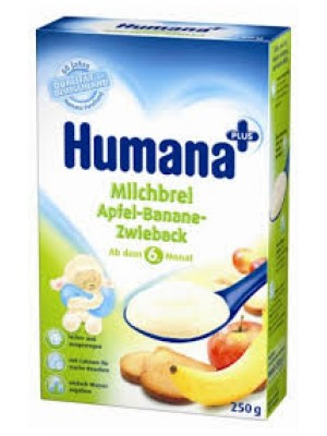 Humana Milk Cereals Apple and Banana Rusk