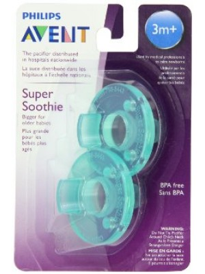 2x Philips Avent American Soothie Green (3m+)