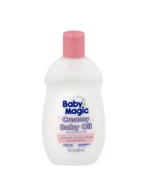 Baby Magic Creamy Baby Oil, Sweet Baby Rose Scent 266 ml