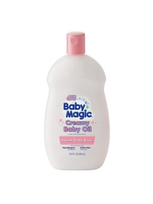 Baby Magic Creamy Baby Oil, Sweet Baby Rose Scent 488 ml