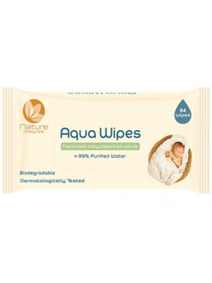 UK Aqua Wipes Single Pack (64 wipes)