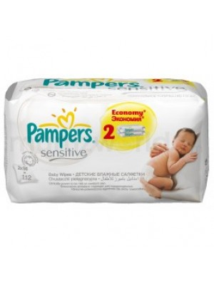 Pampers Sensitive Wipes Dual Pack