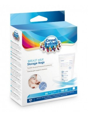 Canpol Babies Sterile Milk Storage Bags (20 pieces x 150ml)
