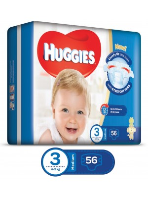 Huggies Medium Size 3 (56 Diapers)