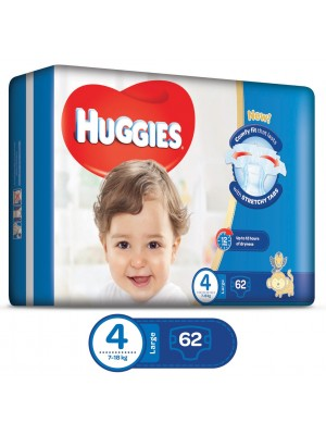 Huggies Large Size 4 (62 Diapers)