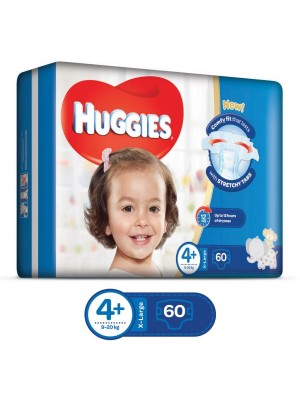 Huggies X-Large Size 4plus (60 Diapers)