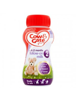 Cow & Gate Infant Milk Ready to Drink Stage 2 (6 months to  1 year) 200ml - Dubai delivery only