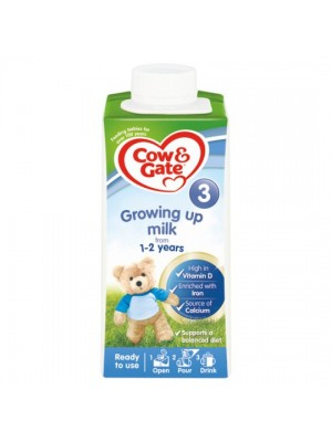 Cow & Gate Ready to Drink Growing Up Milk Stage 3 (1-2 years old) 200ml - Dubai delivery only