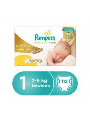 Pampers Premium Care Size 1 (Box of 112 diapers)