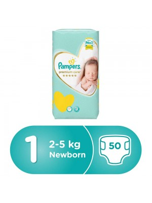 Pampers Premium Care Size 1 (50 diapers) 2-5kgs