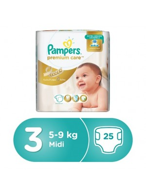 Pampers Premium Care Size 3 (25 diapers) 6-10kgs