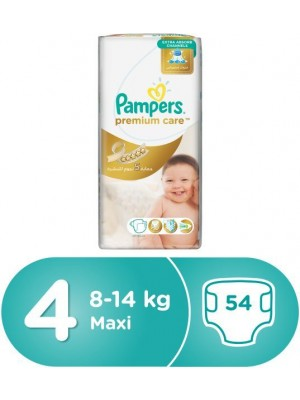Pampers Premium Care Size 4 (54 diapers)