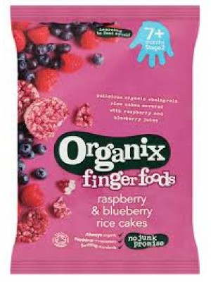 Organix Rasberry & Blueberry Rice Cakes
