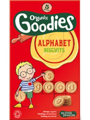 Organix Alphabet Biscuits (5 packs)