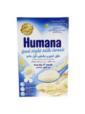 Humana Good night Milk Cereals with Whole Grain & Bananas