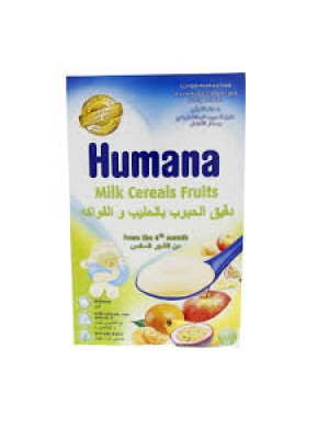 Humana Milk Cereals Fruits