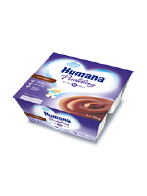 Humana Chocolate Pudding x4