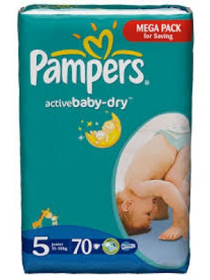 Pampers Junior Size 5 (70 Diapers)
