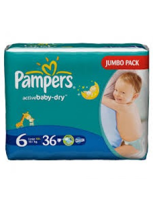 Pampers Size 6 (36 Diapers)