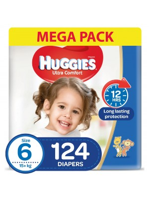 Huggies Size 6 Diapers (Bundle of 2 packs for 124 diapers)