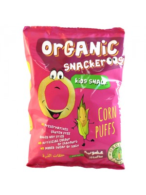 Snackeroos Organic Corn Puffs 6-pack