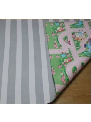 Bumpa Mats (Grey Stripes & Pink Track)