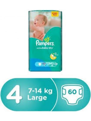 Pampers Large Size 4 (60 Diapers)