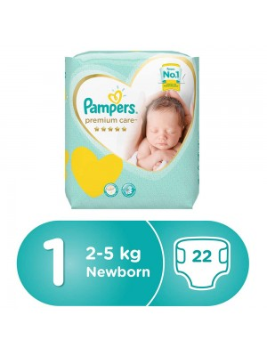 Pampers Premium Care Size 1 (22 diapers)