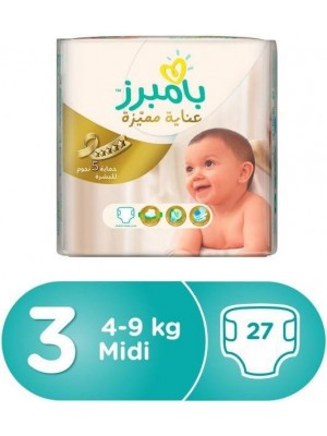 Pampers Premium Care Medium Size 3 (27 Diapers)