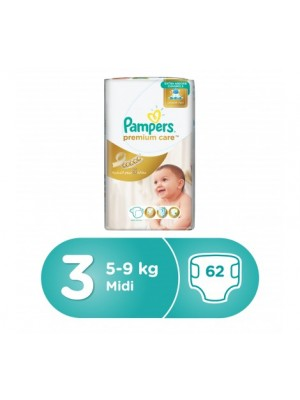 Pampers Premium Care Size 3 (62 diapers)