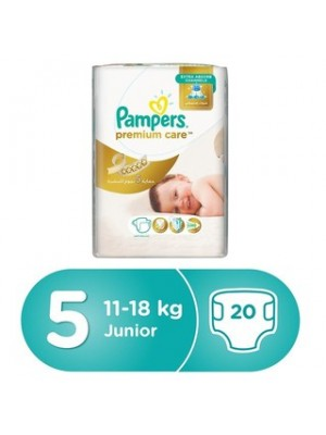 Pampers Premium Care Size 5 (20 diapers) 11-16kgs