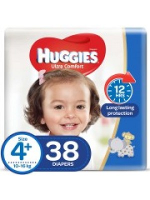 Huggies X-Large Size 4plus (38 Diapers)