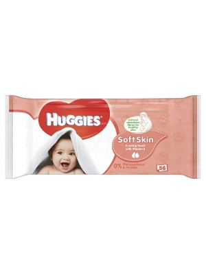 Huggies Wipes Soft Skin Single Pack