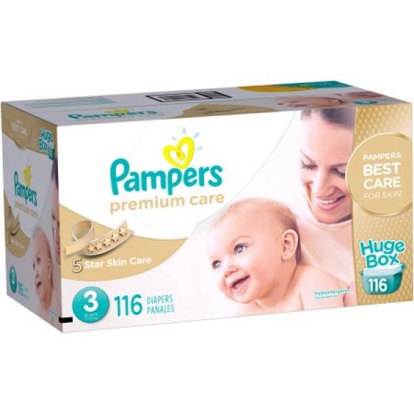 Pampers Premium Care Size 3 Box Of 116 Diapers